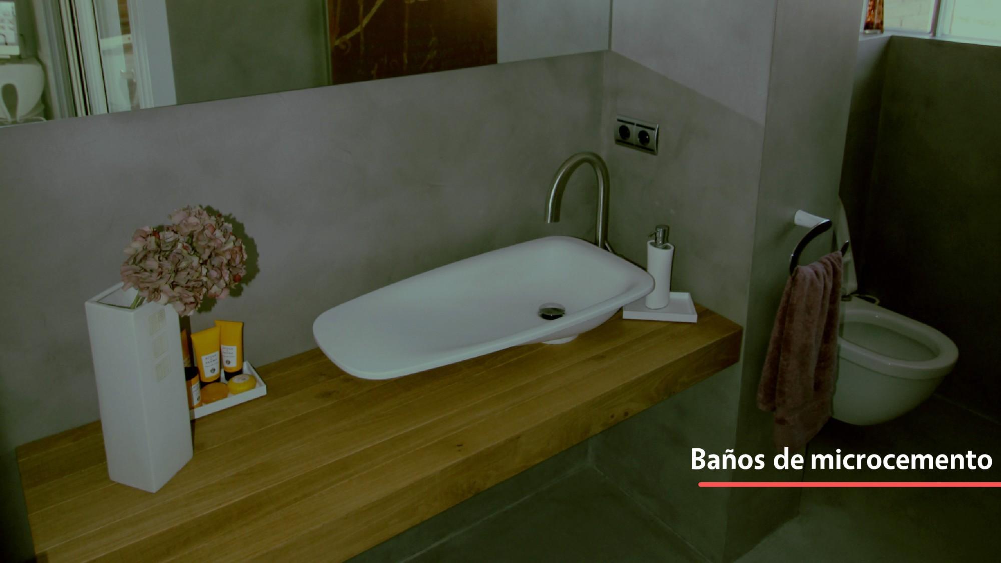 Baños hechos de microcemento