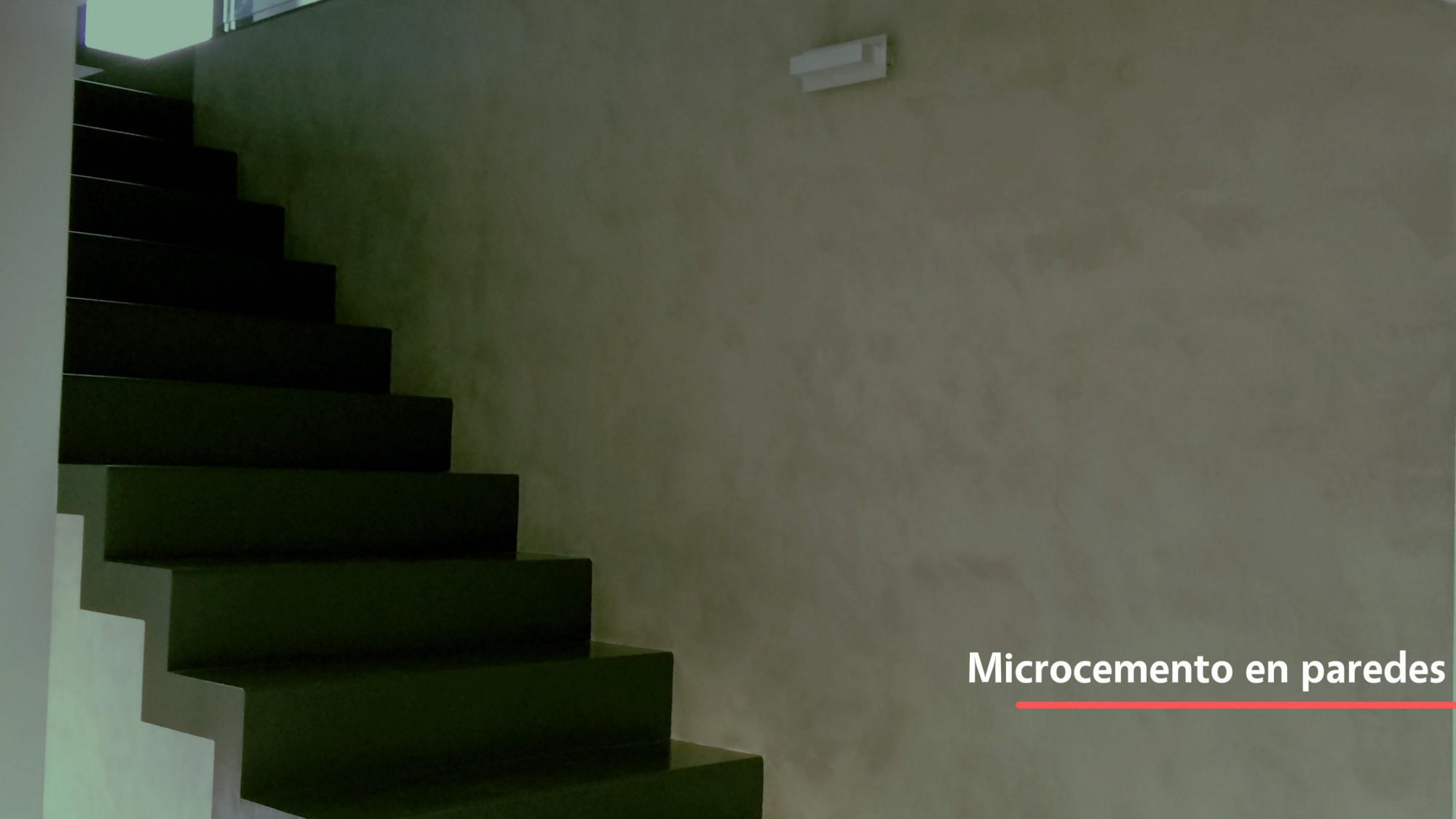 Microcemento usado en paredes