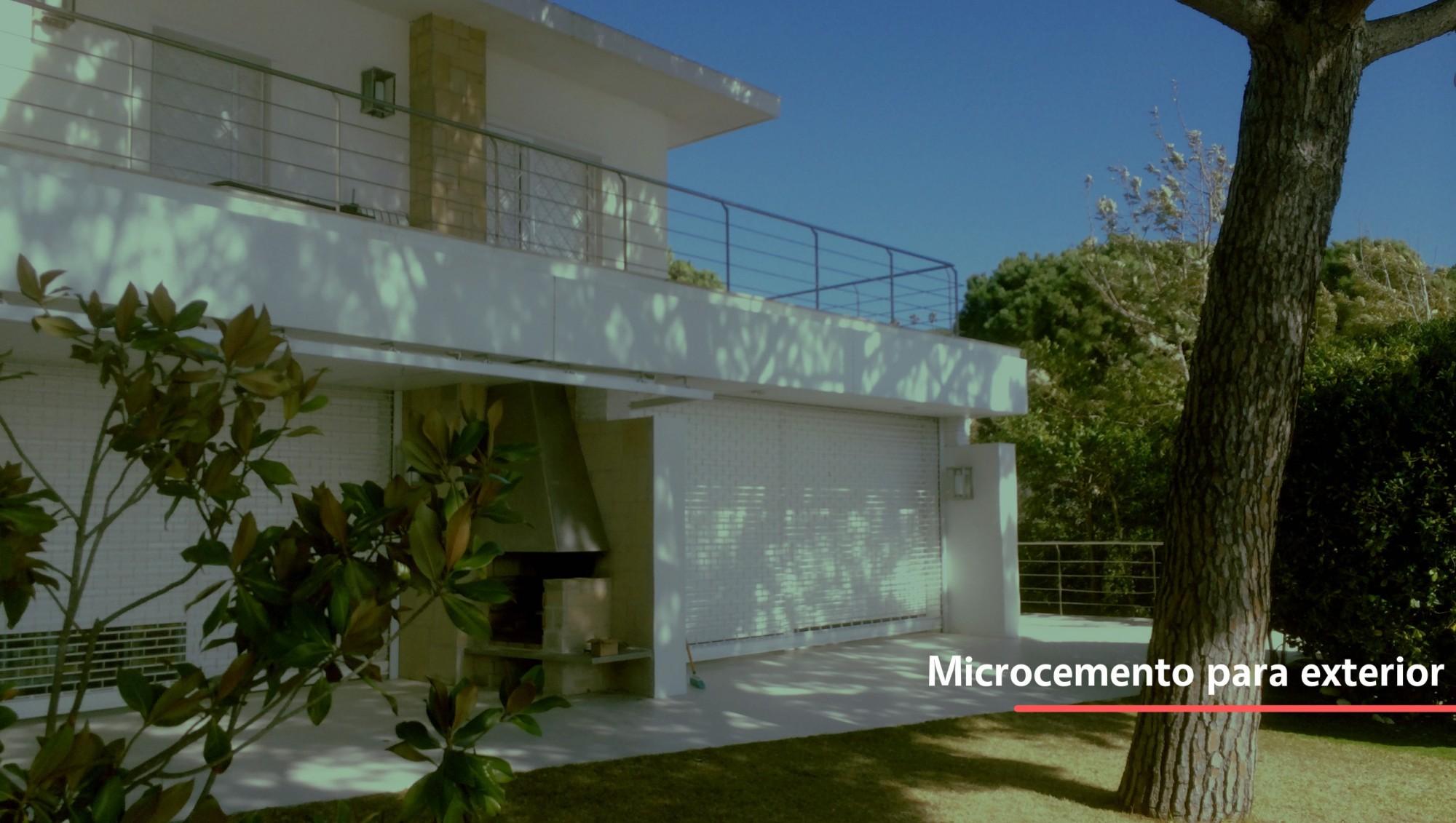 Uso de microcemento para exterior