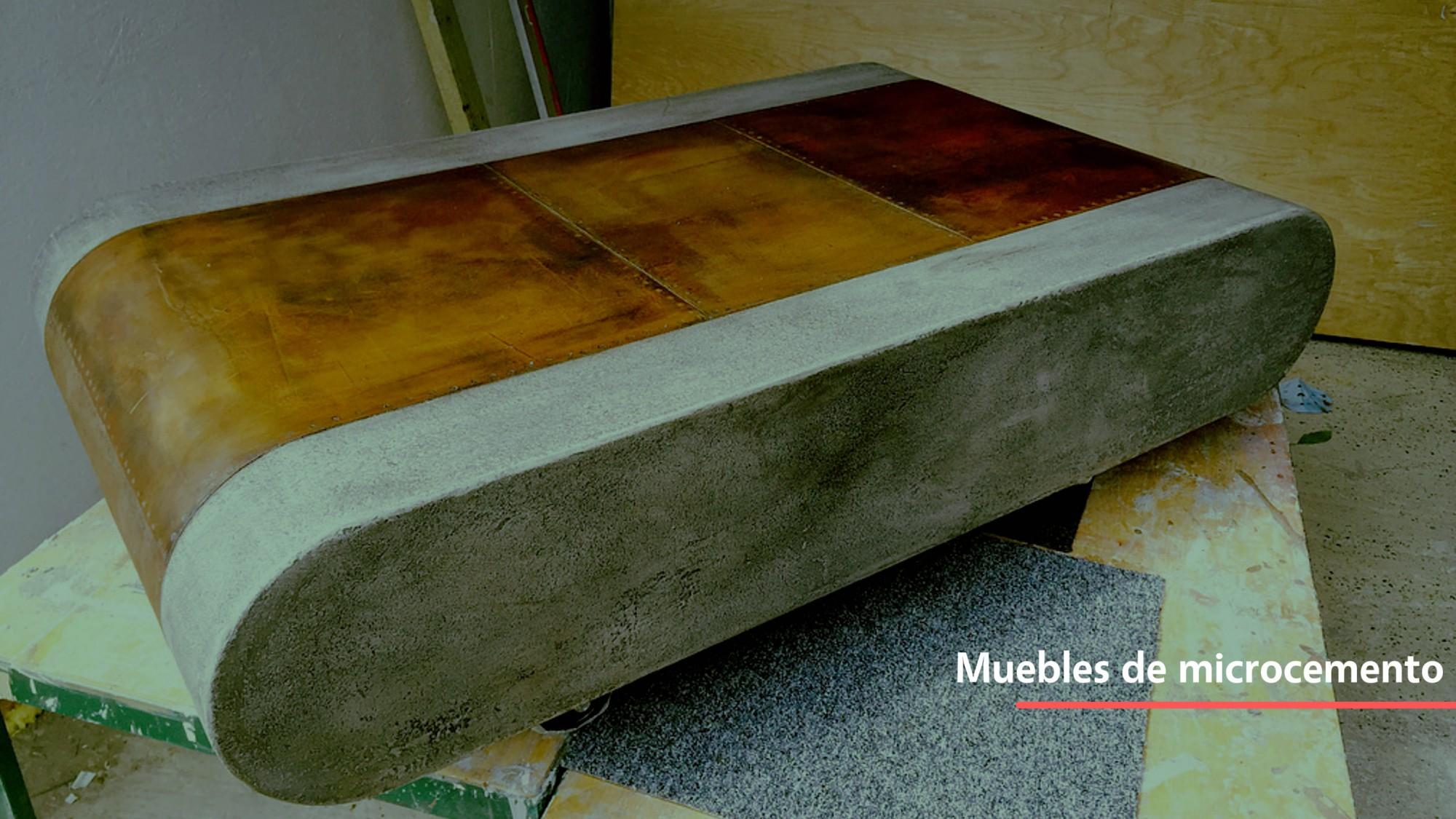 Muebles hechos de microcemento
