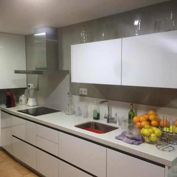 Cocinas de Microcemento en paredes