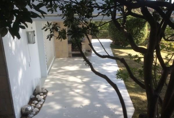 Microcemento para exterior en un patio