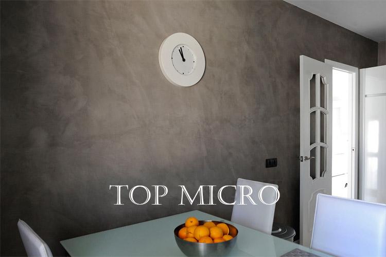 Decoración de microcemento en paredes