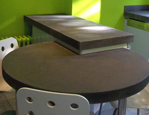 Muebles de microcemento en estantería