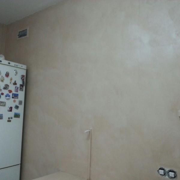 Microemento en paredes color Himalaya