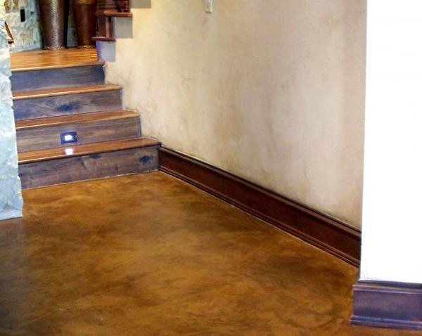 escaleras de microcemento de color oxido